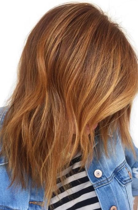 Strawberry Blonde Balayage Hair Color