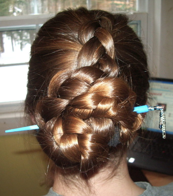 Easy Hair Stick Bun