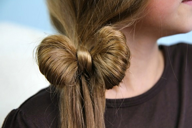 Impresionante Lado Ponytail Hair Bow Hairstyle Tendencia