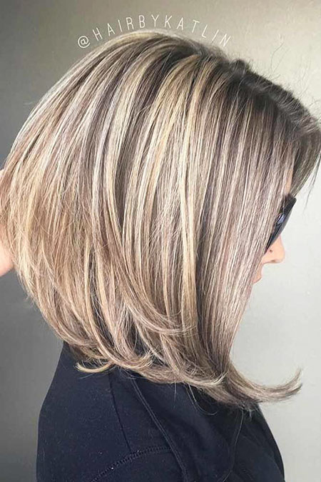 Bob Blonde Layered Brown