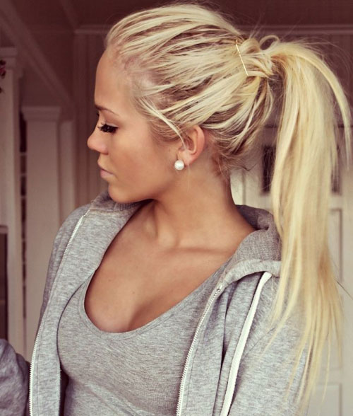 Cute Messy Long Ponytail
