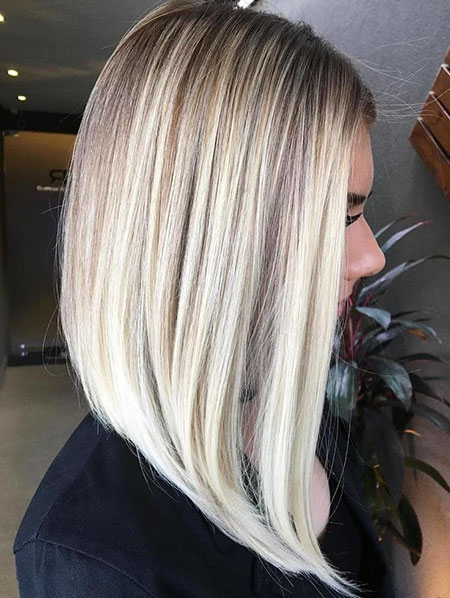 Blonde Balayage Bob Thin