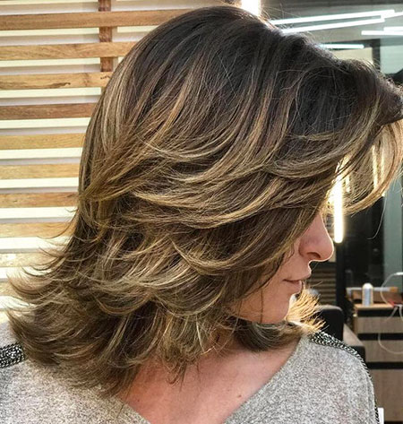 Brown en capas Medium Blonde