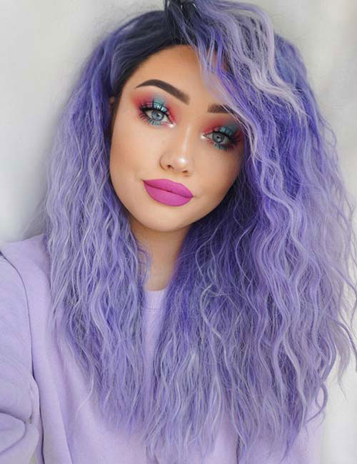 Purple Ombre Hair - Lavender Purple Ombre - Hair Color Ideas