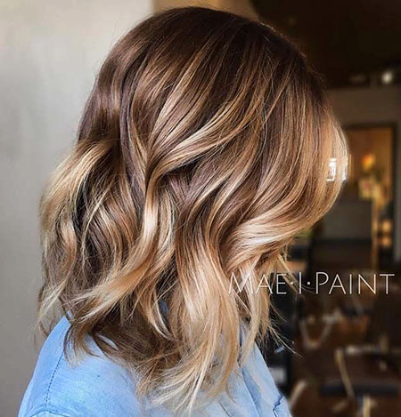 Color rubio marrón Balayage