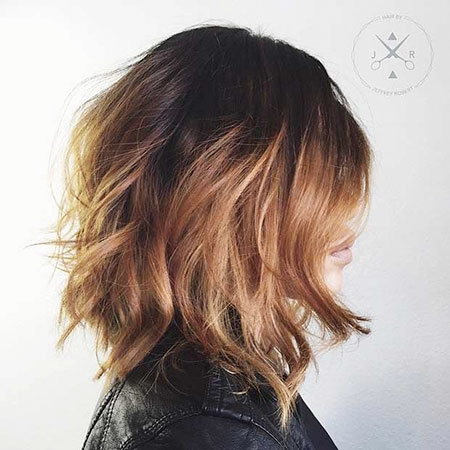 Bob Balayage Choppy Length