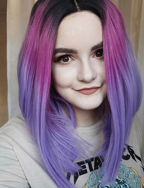 Hermoso Pastel Purple Ombre Hair Color - Vibrante Ombre Hair Ideas