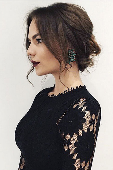 Prom Hairtyle, Selena Medium Updo