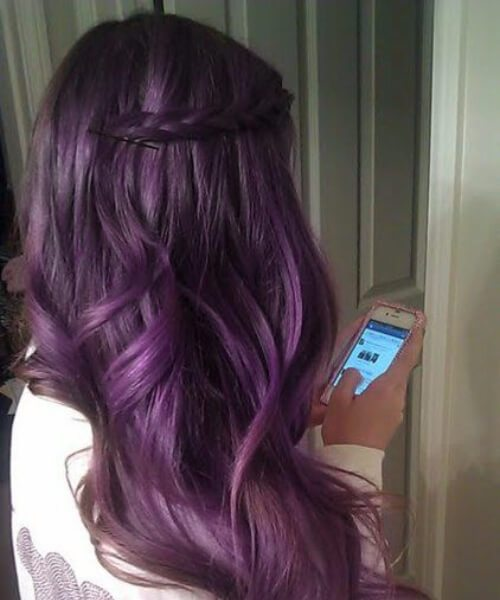 Color de cabello Lavender Plum