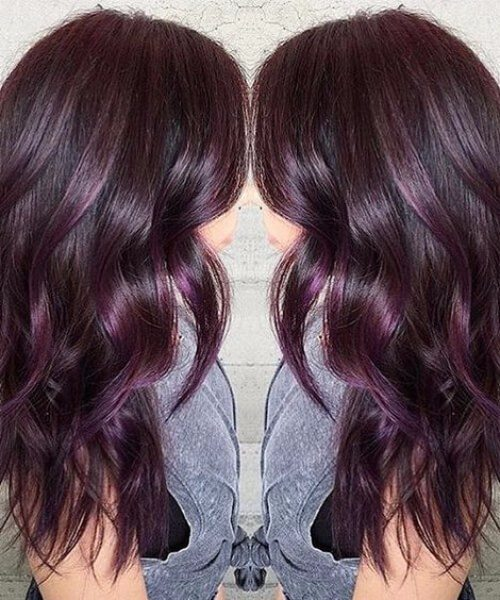 Color de cabello Berenjena Plum