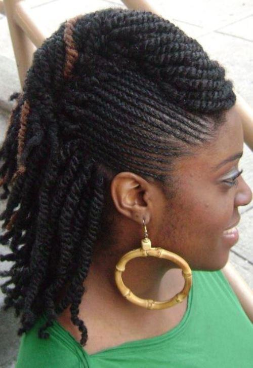 Mohawk Look Twists para mujeres negras